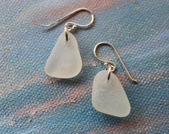 Sterling Silver Natural Seaglass Earrings