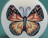 Polymer Clay Monarch Butterfly Cane with Translucent Background -'Ripple' (33B)