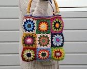 Granny square bag,
