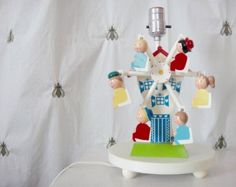 Vintage Nursery Originals Irmi Nursery Lamp, Windmill Ferris Wheel, Children