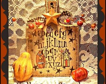 Apple Tree Cottage Original Design E Pattern - Halloween Sampler