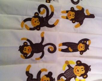 Quilt blocks, machine embroidered
