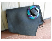 1987 Belt FOB Clutch - Recycled Leather Scraps - Crudeco Leather