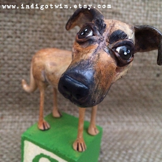 One of a Kind custom dog sculpture pet likeness pet portrait for the pet lover