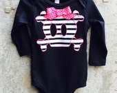 Girls Halloween Skull Shirt or Baby Bodysuit - Children's Sizes - Infant, Toddler and Big Kid - Great Gift, Costume Piece or Party Outfit