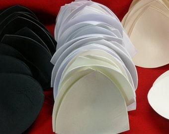 Soft Molded BRA CUPS 29 Pair (58 pieces) Size A/B/C/D Sew-in 4 colors Destash