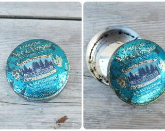 Vintage 1930/1950 French tin box medicine box pharmacy apothecary Pastilles La Vosgienne