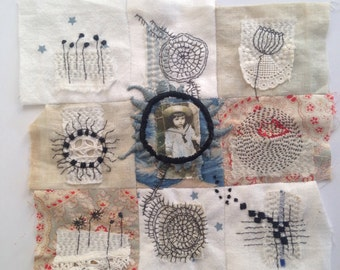 Textile Art Piece - nine patch