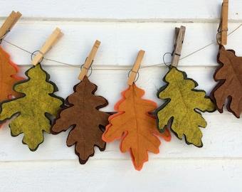 Felt Oak Leaf Sewn Ornament