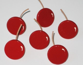 Hand Painted Push Pins Cherries for Bulletin Board