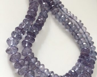 Blue mystic quartz rondelles - tanzanite color WHOLESALE PRICE  20.00