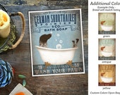 GSP German Shorthaired Pointer dog bath soap Company vintage style artwork by Stephen Fowler Giclee Signed Print UNFRAMED