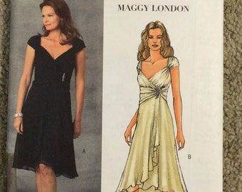Butterick 4657 pattern, Maggy London dress, size 14, 16, 18, 20