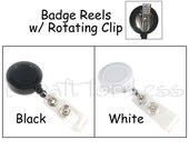 50 ID Badge Clip / Holder / Reels with Rotating Clip and Plastic Strap - SEE COUPON