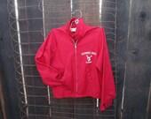 70s Redwood Creek Camp vintage Kids Jacket Deer Antler logo Red childrens Zip Jacket vintage deer jacket 10 12
