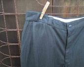 40s Vintage Gray Twill pants vintage wool slacks 40s Workwear wool twill pants Union made pants 38 30 Cuffed pants