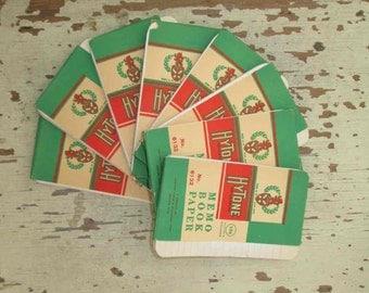 50s Vintage Paper Memo Book Paper Hytone vintage 50s Paper Ephemera Memo binder refills scrapbooking Art Project Craft supplies