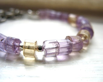 Ametrine Bracelet, Ametrine Jewelry, Ametrine, Gemstone Jewelry, Stone Bracelet, Made in the USA, luminous creation