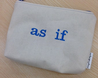 Embroidered Zipper Pouch-as if (EZip 8)