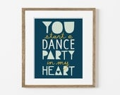 heart party print
