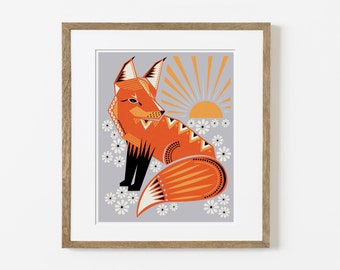 twilight fox print