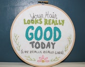 Really Good Hair Needlework Sampler