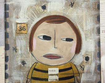 Ms. Margie 36- Original Folk Art -