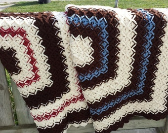 Crocheted Afghan, Made to Order, Rectangles