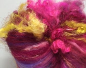 Spinning Fiber Textured Art Batt  Sunset