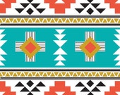 Tribal fabric, Navajo fabric, Modern Fabric, Boy fabric, Quilt fabric, Four Corners, Cotton fabric by the yard,  Choose your cut