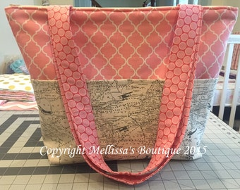 Custom Designer Diaper Bag LARGE Size To Match Your Crib Bedding ADD ON