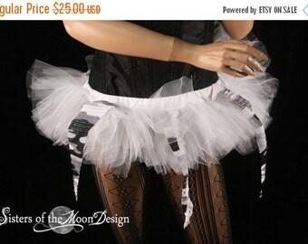 ON SALE UV Camo tutu skirt mini micro Adult white race gogo dance team costume raver culb wear --Ready to Ship- Small - Sisters of the Moon