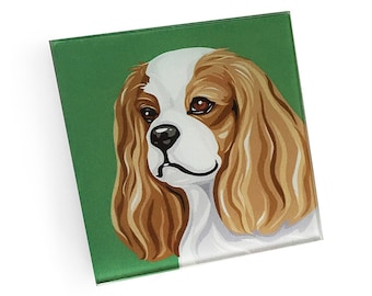 Set of 4 King Charles Spaniel Coasters