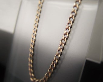 Antique Gold Chain Necklace Bronze Gold Chain by the foot 2 x 2 5mm Curb Chain  Item No. 1458