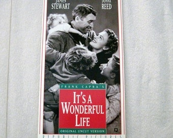 It's A Wonderful Life Recycled VHS Notebook - Spiral Bound