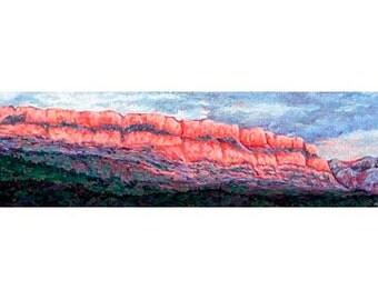 Big Bluff - Big Bend National Park Original Oil Pastel Painting, Big Bend Painting, Southwest Decor, Southwest Painting, Western Painting