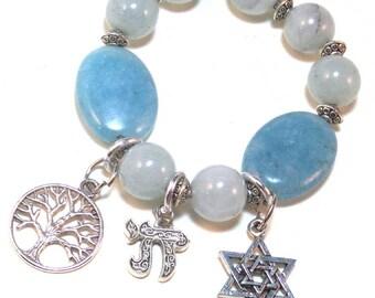 Judaica Jewish Charm Bracelet