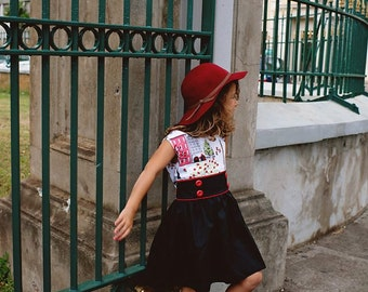 1950 Style Retro Paris Dress children child girl toddler