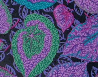 "FAT QUARTER FQ73 Philip Jacobs Big Leaf Purple PWPJ070 Precut 18""x22"" Fabric Cotton Quilting Westminster"