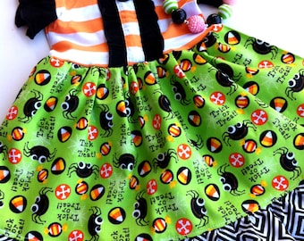 Halloween Delight Dixie dress Momi boutique toddler girl
