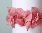 Pink Rose Lace Flower Headband for Girl