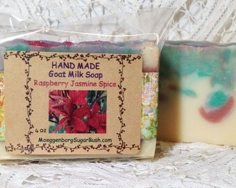 Goat Milk Soap, Raspberry Jasmine Spice, handmade soap,  Handmade, Cold Process, Teacher gift, Moeggenborg Sugar Bush, Mother's day