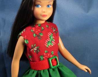 Skipper Clothes - Red and Green Christmas Dress Set