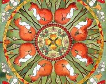 Autumn Fox  A4 print