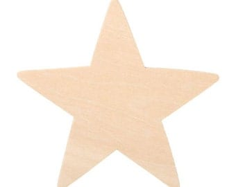 Wood Cutout - Star - 3.5 inches - 12 pieces