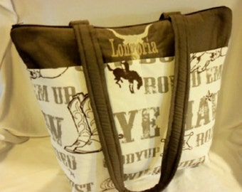 Western theme Cowboy Cowgirl 2 styles diaper bag nappy purse Great for Dad' baby shower or birthday gift add name baby shower present