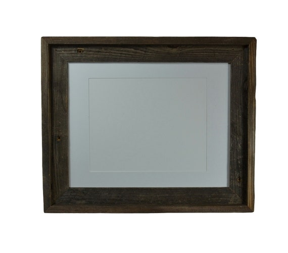 Picture Frame 11x14 With White Mat For 8x108 By Barnwood4u