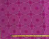 NEW Riley Blake Patty Young Collection grape circles cotton Lycra  knit fabric 1 yard