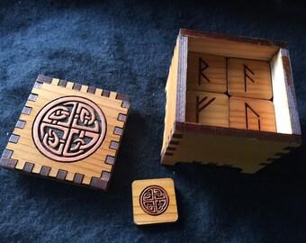 Celtic Four Elements  Futhark Rune Cube