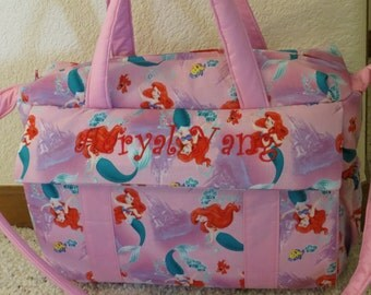 Little Mermaid Diaper Bag with changing pad by EMIJANE